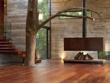 Uporaba lesa v naravni gradnji