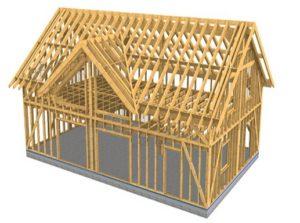 slika 2 lesena konstrukcija